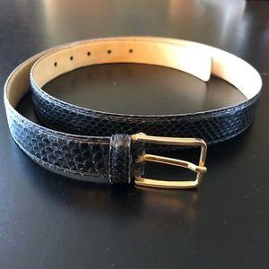Accessories - Snake skin embossed leather belt